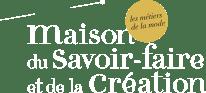 Logo Maison du Savoir Faire et de la création en blanc